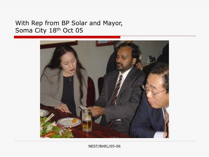 With Rep from BP Solar and Mayor,