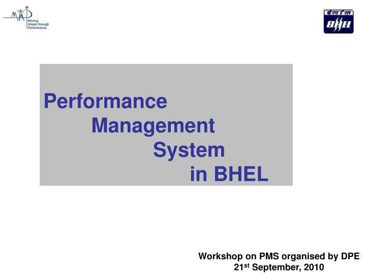 performance management system in bhel n.