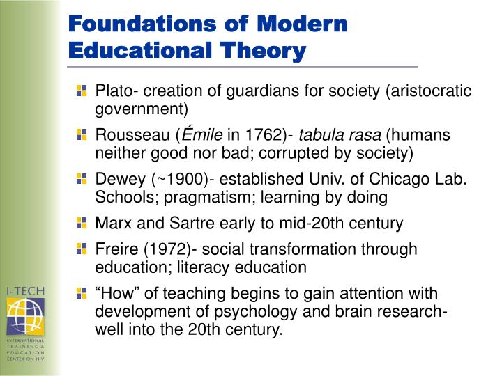 Foundations of Modern Educational Theory