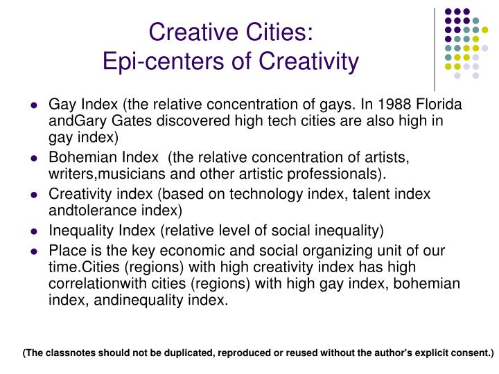 Creative Cities: