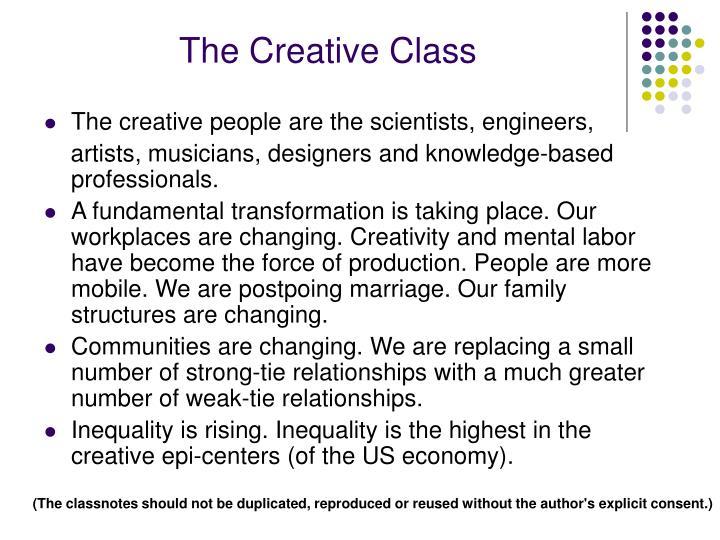 The Creative Class