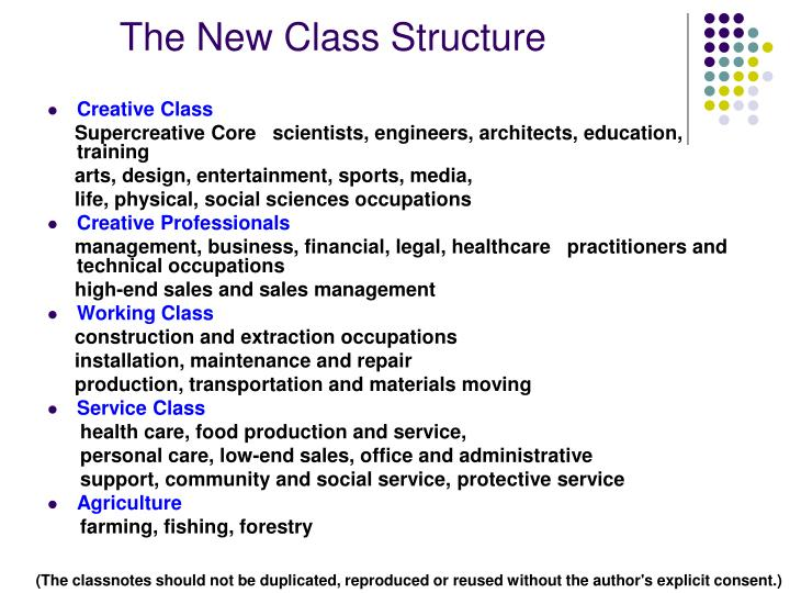 The New Class Structure
