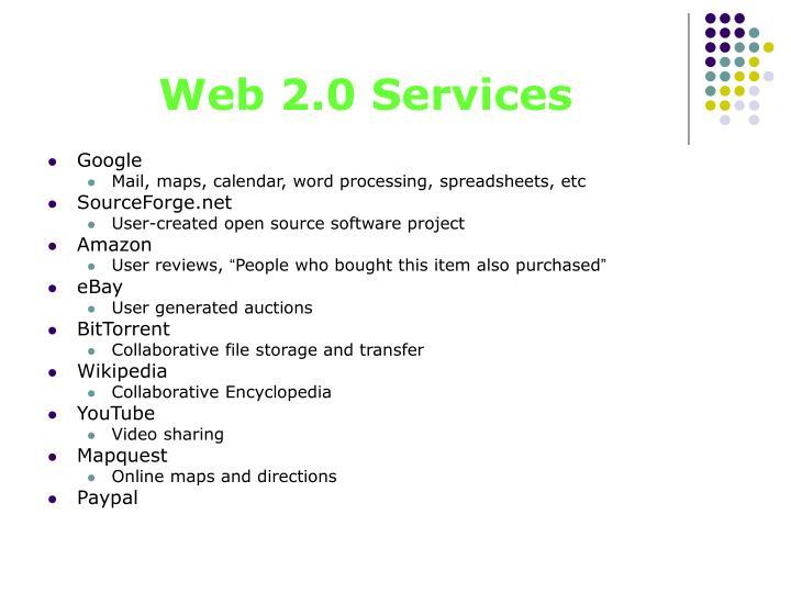 Web 2.0 Services