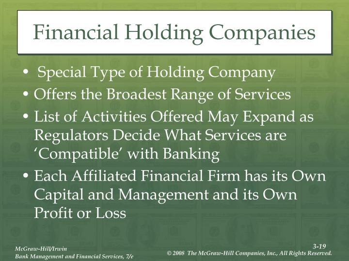 Financial Holding Companies