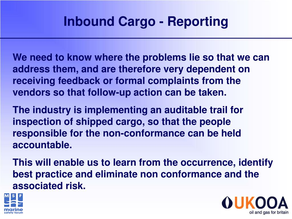 PPT - Guidelines for the Safe Packing and Handling of Cargo