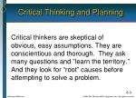 critical thinking and planning