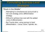 formulating business level strategies1