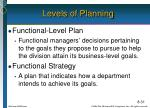 levels of planning2