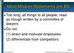 most mission statements are bs