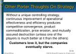 other porter thoughts on strategy