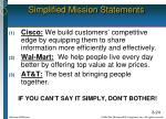 simplified mission statements