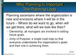 why planning is important the planning loop
