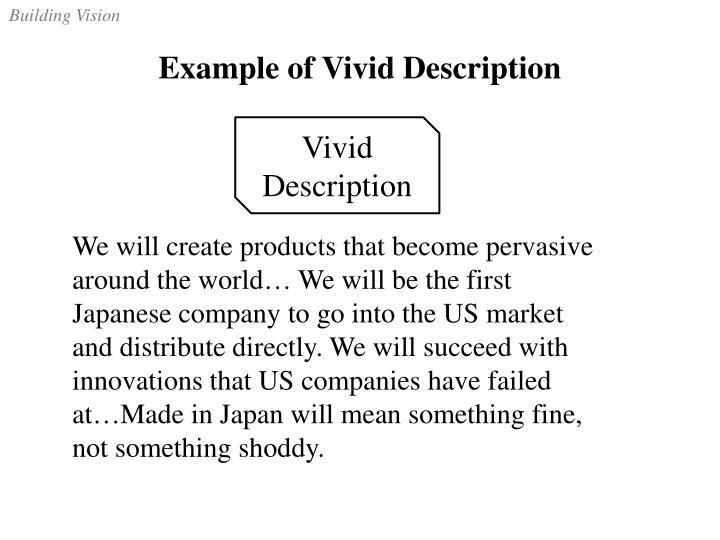 Example of Vivid Description