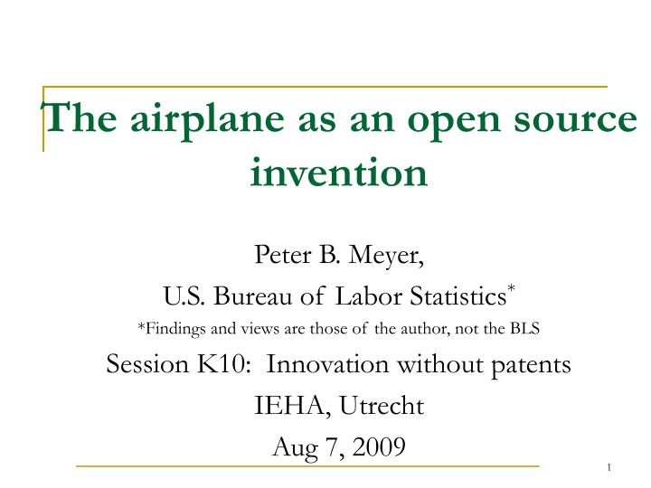 the airplane as an open source invention n.