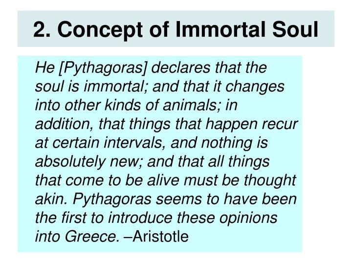 2. Concept of Immortal Soul