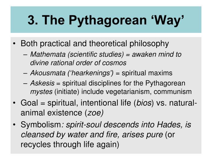3. The Pythagorean 'Way'