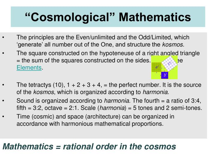 """Cosmological"" Mathematics"