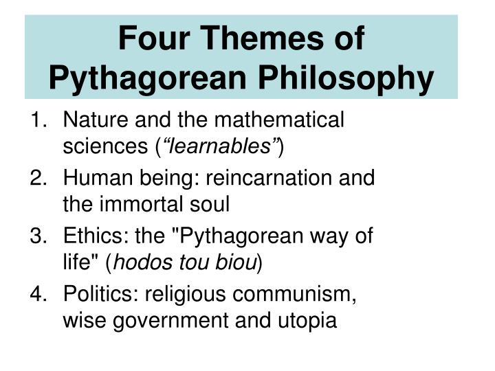 Four Themes of Pythagorean Philosophy