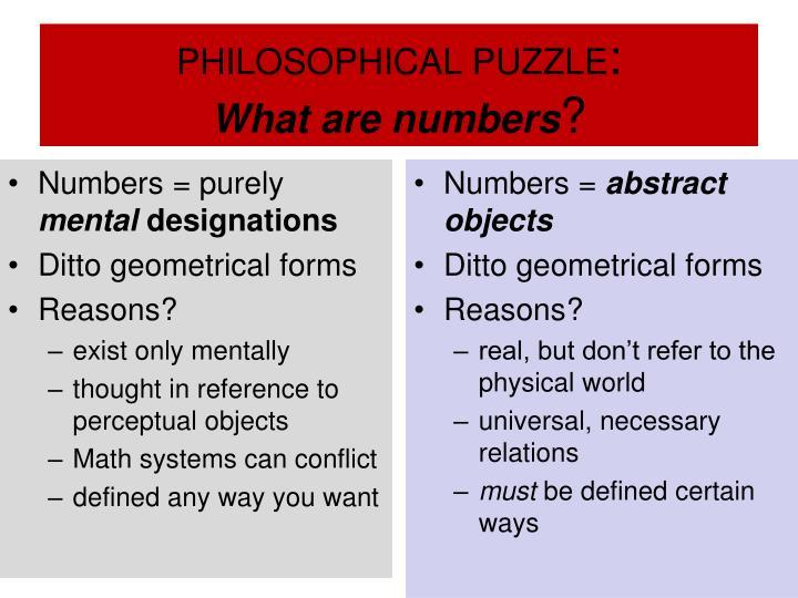 PHILOSOPHICAL PUZZLE