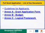 full grant application list of key documents1
