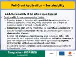 full grant application sustainability