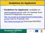 guidelines for applicants