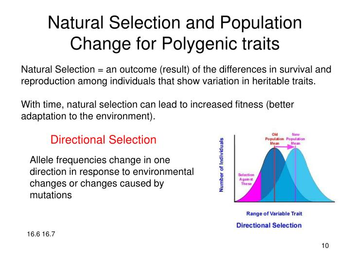 Natural Selection and Population Change for Polygenic traits