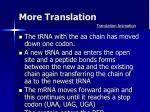 more translation