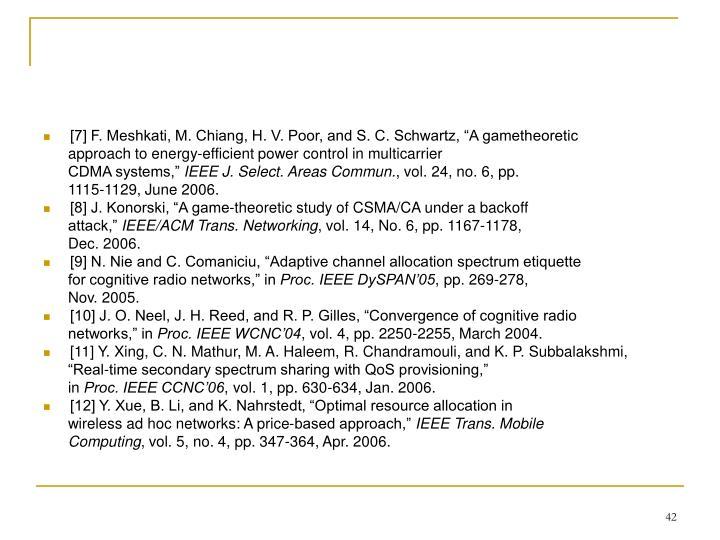 "[7] F. Meshkati, M. Chiang, H. V. Poor, and S. C. Schwartz, ""A gametheoretic"