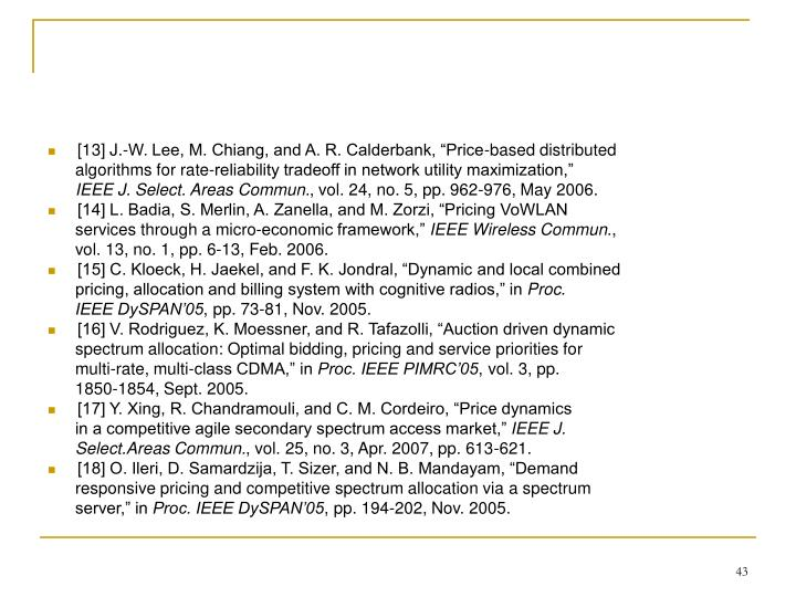 """[13] J.-W. Lee, M. Chiang, and A. R. Calderbank, """"Price-based distributed"""