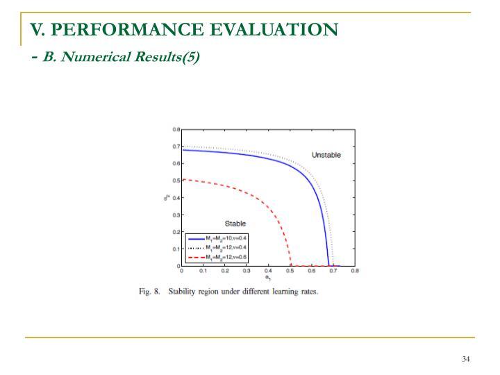 V. PERFORMANCE EVALUATION