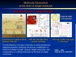 molecular electronics at the level of single molecule1