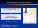 nanoplasmonics and nanophotonics