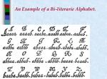 an example of a bi literarie alphabet