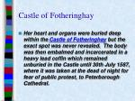 castle of fotheringhay