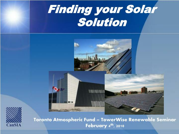 Finding your Solar