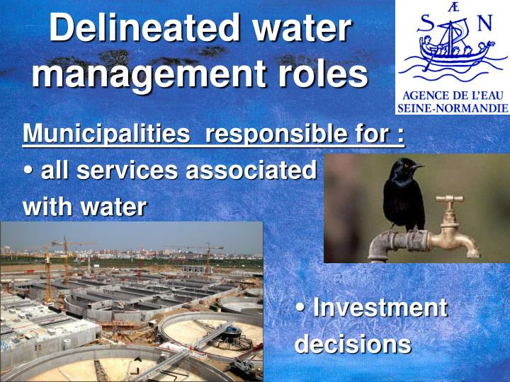 Delineated water management roles