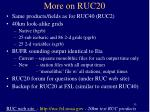 more on ruc20