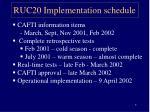 ruc20 implementation schedule