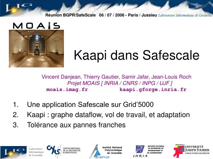 R union bgpr safescale 06 07 2006 paris jussieu