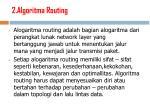 2 algoritma routing