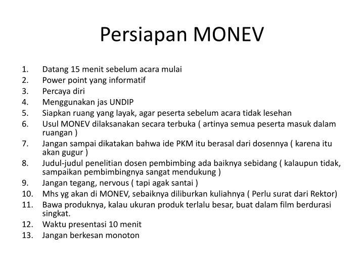 Persiapan monev1