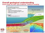 overall geological understanding ormen lange the entire geo conditions leading to instability