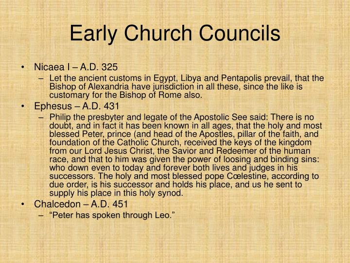 Early Church Councils