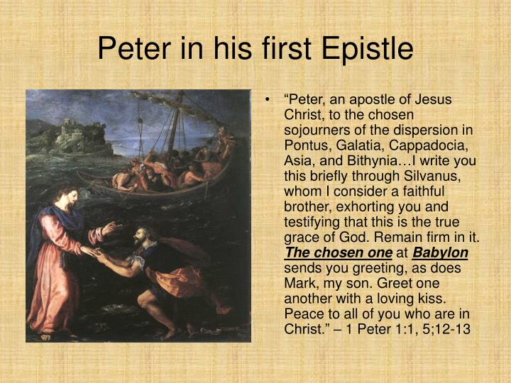 Peter in his first Epistle
