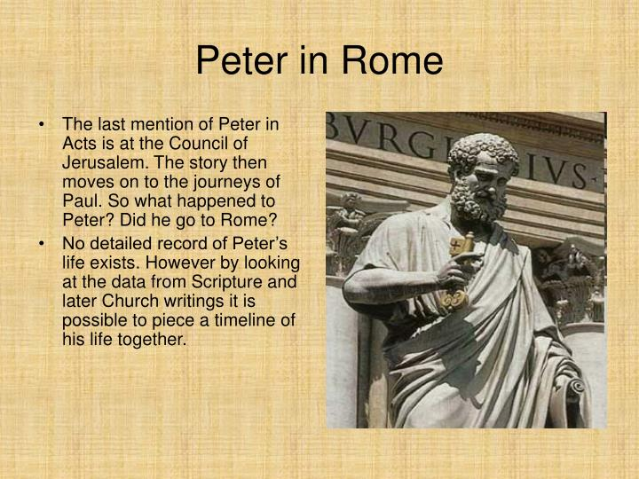 Peter in Rome