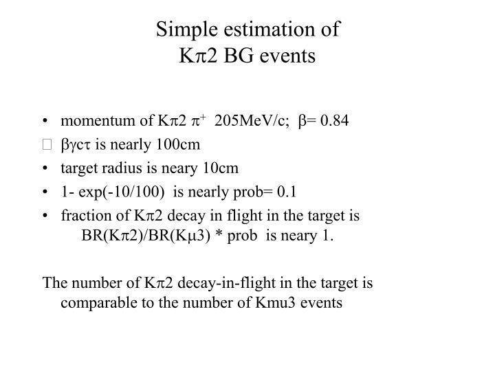 Simple estimation of