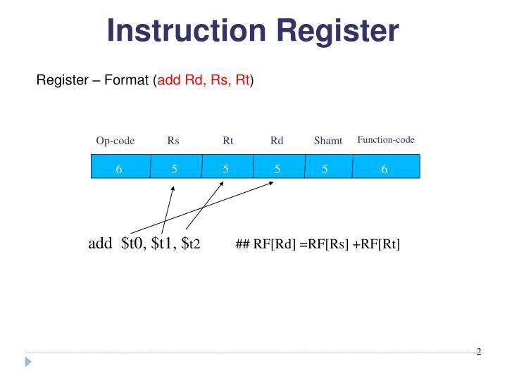 Instruction Register