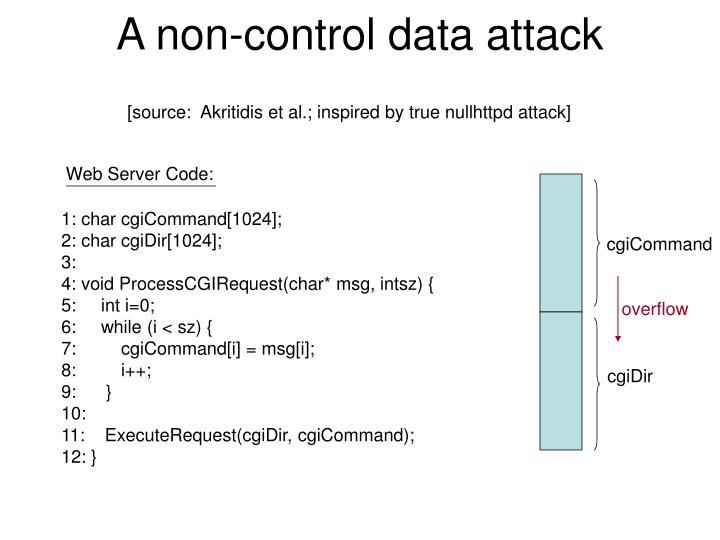 A non-control data attack