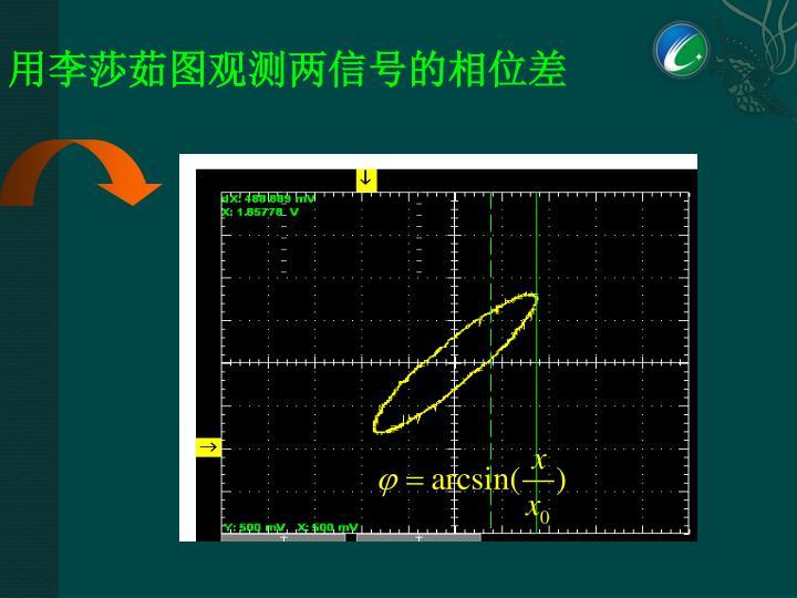 用李莎茹图观测两信号的相位差